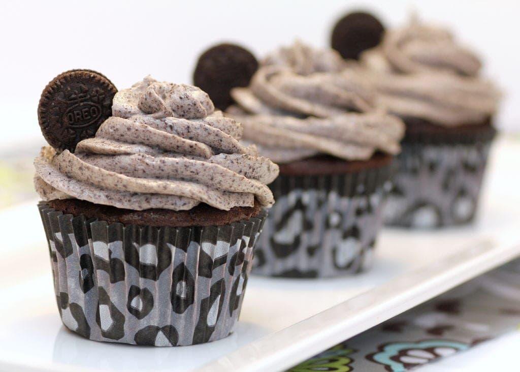 Receta de cupcakes de Oreo